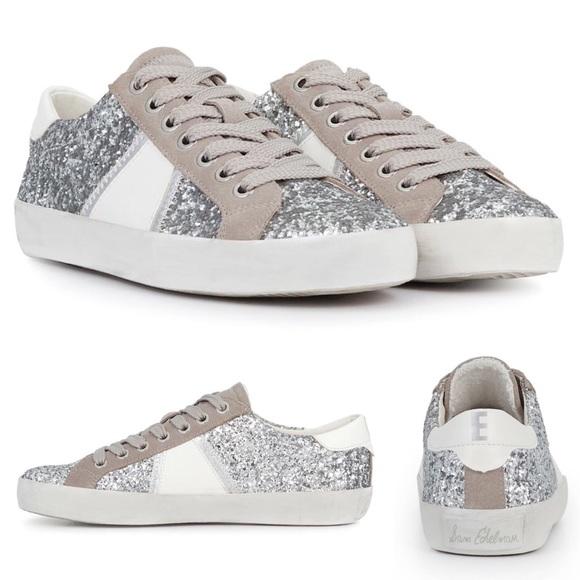 38bc2ef3e44310 Sam Edelman Baylee Suede   Glitter Low Top Sneaker.  M 5b2b1b28f63eea256aa75f98
